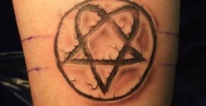 tatuaje heartagram