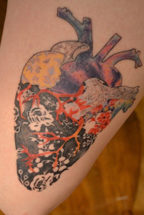awesome heart tattoo