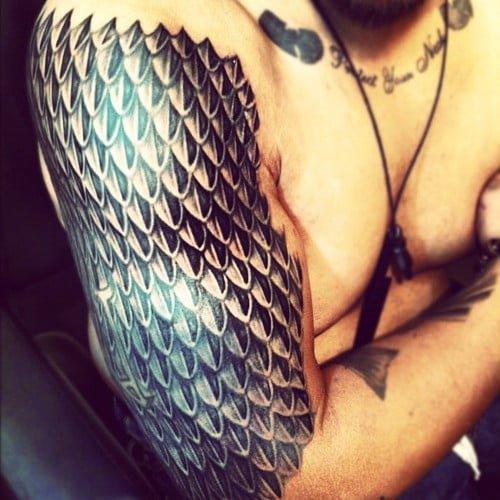 dragon scales tattoo