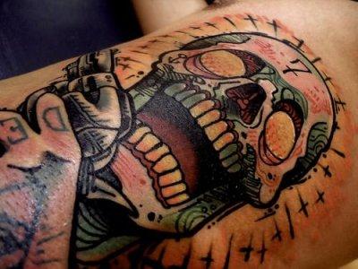 tatuaje calavera mexicana