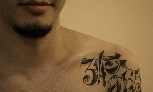 tattoo Pi Shoulder