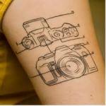 SLR camera tattoo