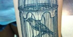 tatuaje jaula de pajaro