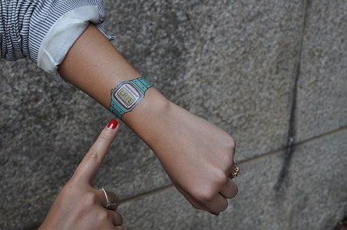 digital clock tattoo