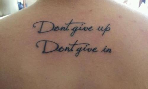Tatuajes de frases