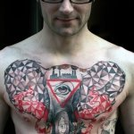 Elephant tattoo chest