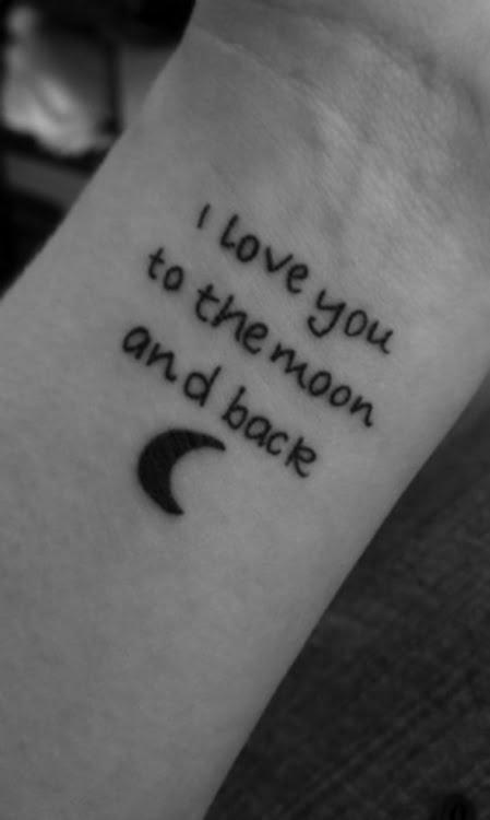Tatuaje Te Amo Hasta La Luna Y De Vuelta