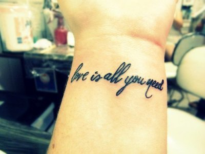 love is all you need tattoo