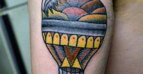 balloon tattoo