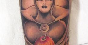 White Snow Queen tattoo