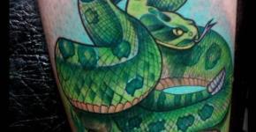 green snake tattoo