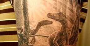 Dinosaurs extintion tattoo