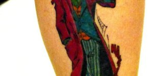 Old School joker tattoo