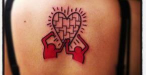 Tatuaje rompecabezas corazón