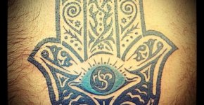 Mano de fátima tatuaje