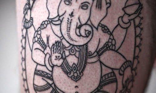 Tatuaje de Ganesha (Dios Hindu)