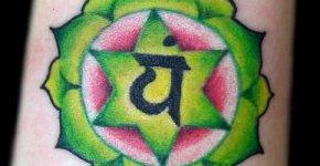 Tatuaje chakra del corazón