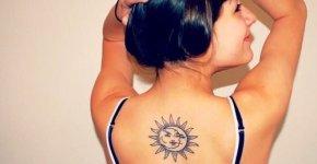 Tatuaje del sol y la luna