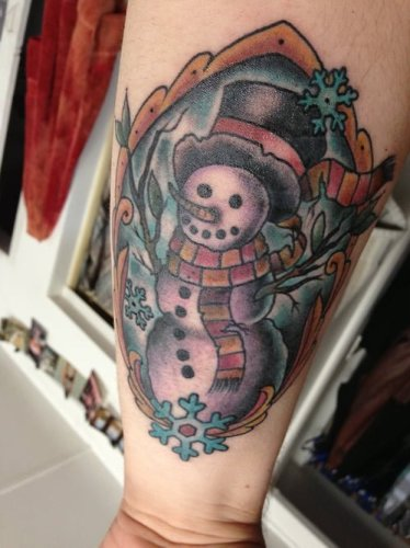 Snowman tattoo