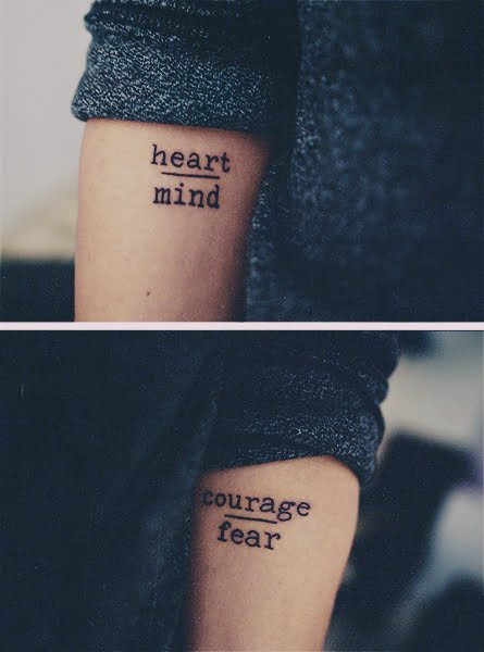heart over mind courage over fear