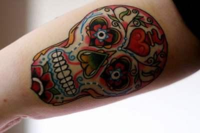 Tatuaje calaverita de azucar