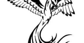 phoenix tribal tattoo design