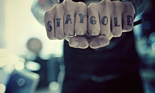 Stay Gold tattoo