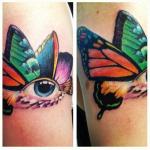 Tatuaje mariposa-ojo