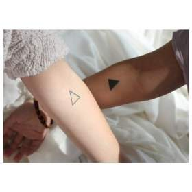 Triangle tattoos couples