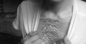 Joy Division chest tattoo
