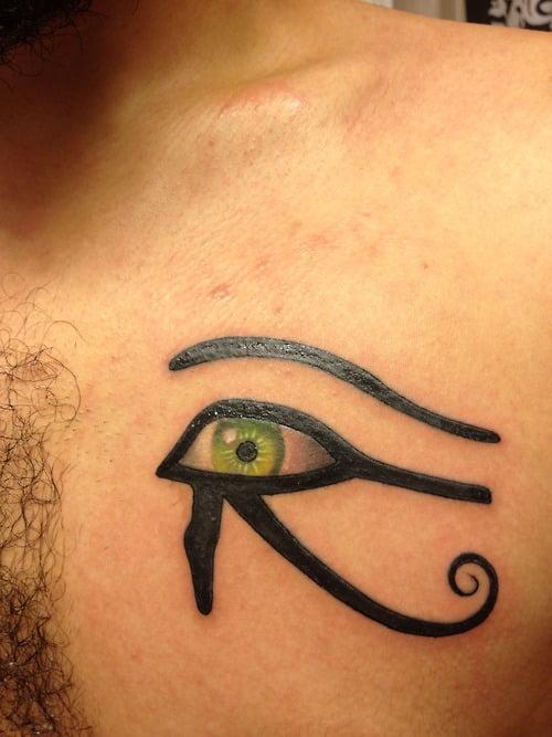 Eye Of Ra Tattoo On Chest Tatuajesxd