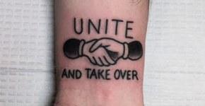 Unite and take over tattoo