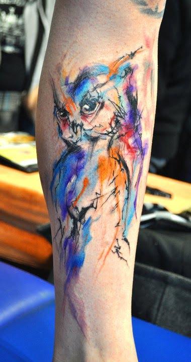 Watercolor Owl Tattoo Tatuajesxd