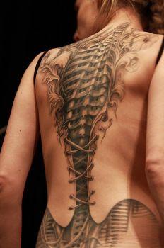 Cyborg tattoo for woman