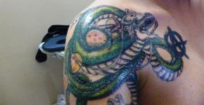 Shen Long tattoo on shoulder