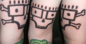The descendents skull tattoo