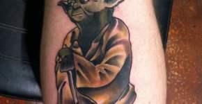 Yoda tattoo from Star Wars