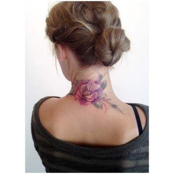 nape tattoo for girls