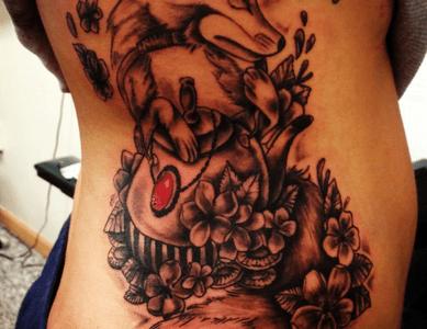 fox tattoo for girls