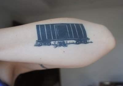 railroad car tattoo
