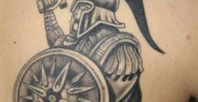 Gladiator tattoo on the back