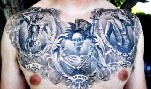 impresionantes tatuajes en el pecho de hombres