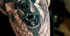 Tatuaje de oso por Peter Aurisch