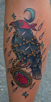 Tattoo pájaro negro
