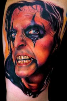 Alice cooper portrait tattoo