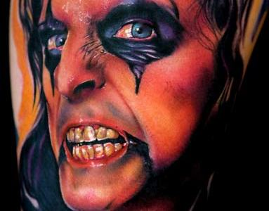 Alice cooper portrait tattoo