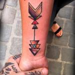 Tatuaje de una flecha
