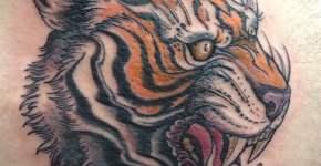 Tigger tattoo on the back