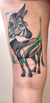 Zebra Tatoo by Peter Aurisch