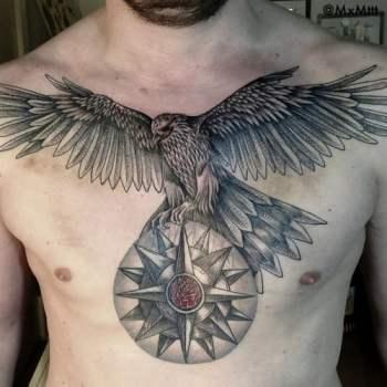 Tatuaje Aguila En El Pecho Tatuajesxd